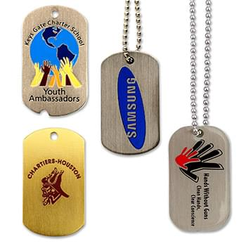 Dog Tags - Aluminum Etched Enamel