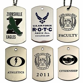 Dog Tags - Stainless Steel Etched Enamel