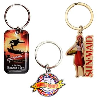 "1 1/2"" Full Color Custom Keytag Key chain"