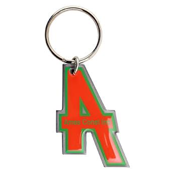 "1 3/4"" Full Color Custom Keytag Keychain"
