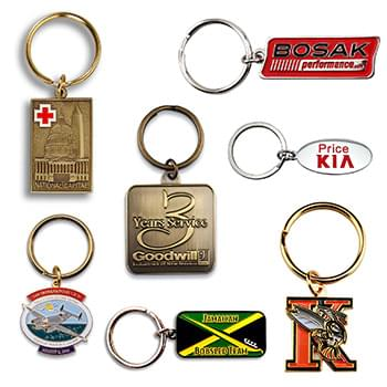 "Custom Die Struck Brass Keychain (1 1/2"")"