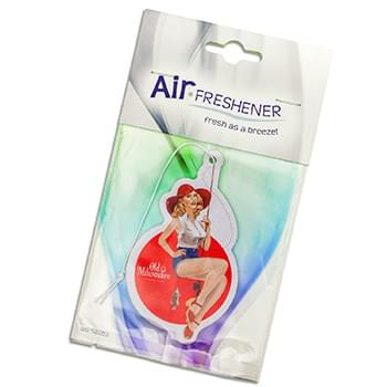 Paper Air Fresheners Custom Shape w/ Stock Retail Card