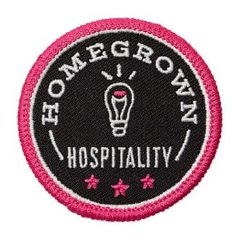 "2"" Embroidered Patch- 70% Thread Coverage"