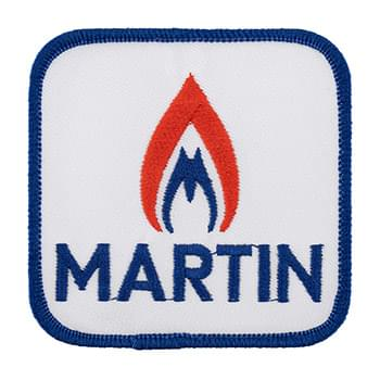 "4"" Embroidered Patch - 70% Thread Coverage"